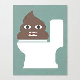 Poop Monster Canvas Print