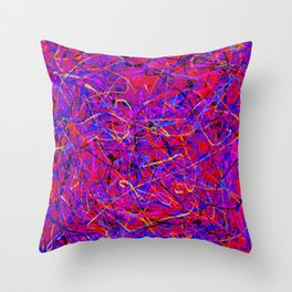 lots of lines Throw Pillow