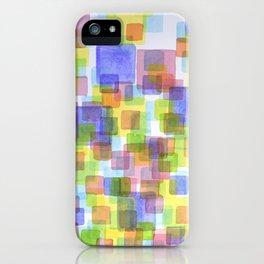 Floating Lightfull Squares  iPhone Case