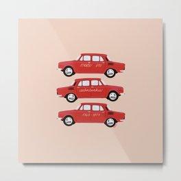SKODA 100 red Metal Print