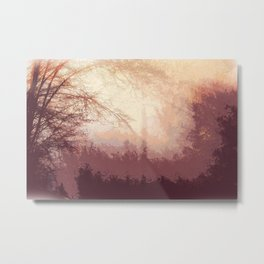 forest watercolor Metal Print
