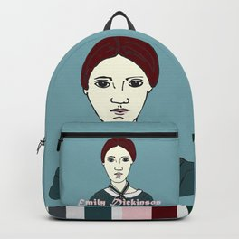 Emily Dickinson, hand-drawn portrait Backpack