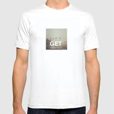 Get Used To It White Mens Fitted Tee MEDIUM