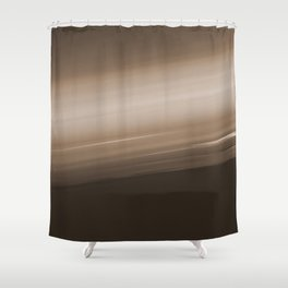 Sepia Brown Ombre Shower Curtain