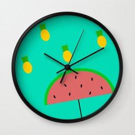 Summer Rains Wall Clock