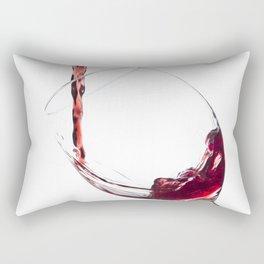 Elegant Red Wine Photo Rectangular Pillow