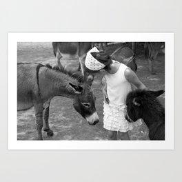 Donkey Whisperer Art Print