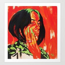 The Fabulous Billie E. Portrait Art Print