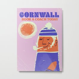 Cornwall vintage travel poster Metal Print