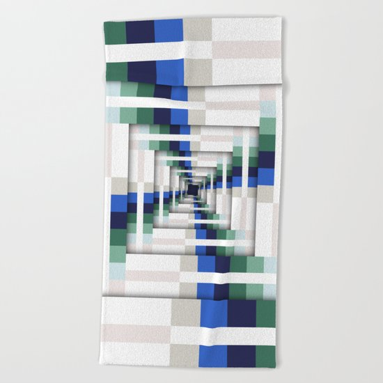 Layers of Colorful Stripes Beach Towel