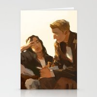 stucky Stationery Cards featuring Stucky, Warm Afternoon by MMCoconut