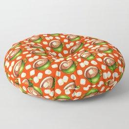 Hot Cocoa Pattern Floor Pillow