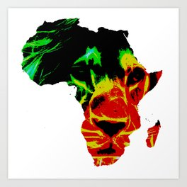 Lion Heart Africa Art Print