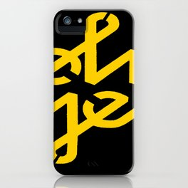 Oh Yes Awesome Typography iPhone Case
