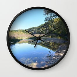 Where Canoes and Raccoons Go Series, No. 32 Wall Clock