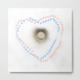 Pastel hearts Metal Print