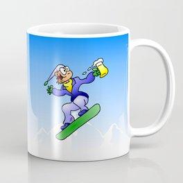 Snowboarding with a beer Coffee Mug