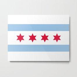 Chicago Flag Metal Print