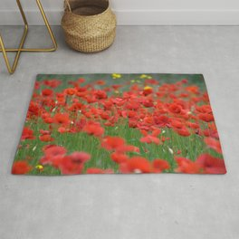 Poppy field 1820 Rug