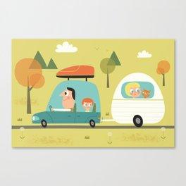 Sur la route des vacances  Canvas Print