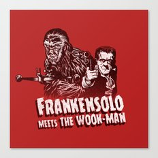Frankensolo meets the Wook-man Canvas Print