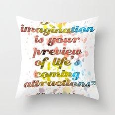 Imagination / Albert Einstein Throw Pillow