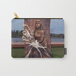 Driftwood Flower Lady Carry-All Pouch