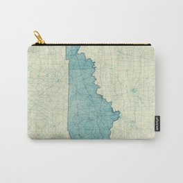 Kentucky State Map Blue Vintage Carry-All Pouch