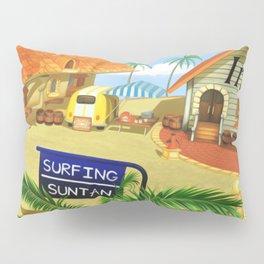 Costa Del Sol Surfing Suntan Pillow Sham