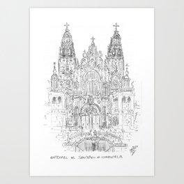 Cathedral of Santiago De Compostela Art Print