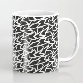 Black and White Polygons Coffee Mug