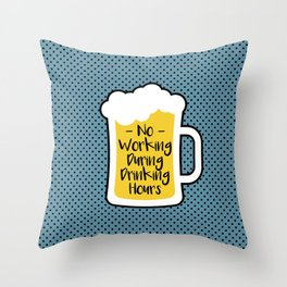 Beer Drinking Hours Throw Pillow