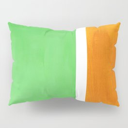 Pastel Mint Green Yellow Ochre Rothko Minimalist Mid Century Abstract Color Field Squares Pillow Sham
