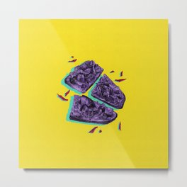 Favourite Food - Yellow by Chrissy Curtin Metal Print
