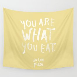 Pizza / Poster, scandinavian, art print, drawings, paintings, type, illustration, motivation Wall Tapestry