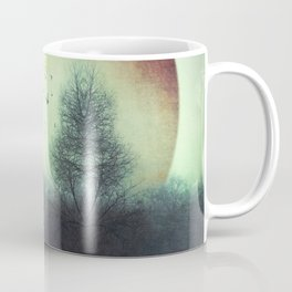 unReality - Fantastic Landscape with Red Planet Coffee Mug