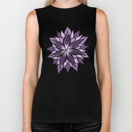 Purple Mandala Like Abstract Flower Biker Tank