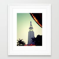 cinema Framed Art Prints featuring cinema  by Lola Byrd