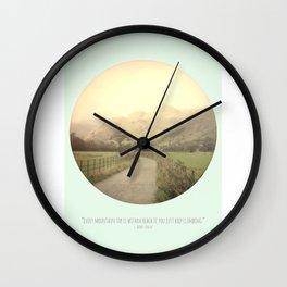 Mountain Tops Wall Clock