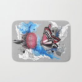 Butterfly I by carographic, Carolyn Mielke Bath Mat