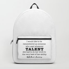 Ruth Bader Ginsburg Notorious RBG Talent Backpack