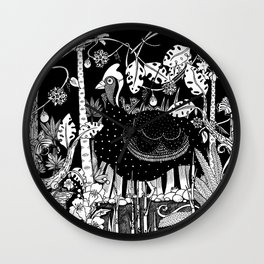 Guinea Fowl Wall Clock