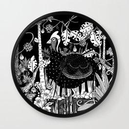 Guinea Fowl Wall Clock