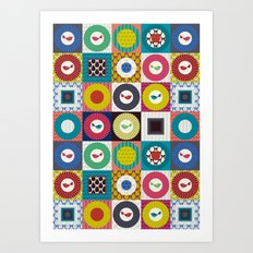 little bird squares Art Print