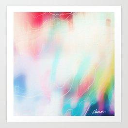 colour wave Art Print