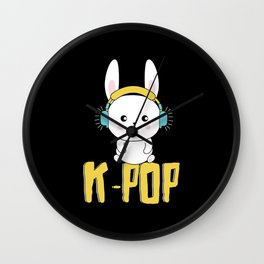 K-Pop Bunny Wall Clock