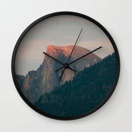 Half Dome Sunset in Yosemite Wall Clock
