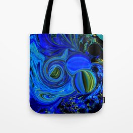 Abstract Blue with a Golden Glow Tote Bag