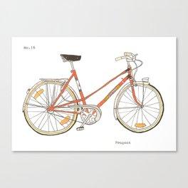 Orange Bike no 16 Canvas Print