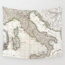 Vintage Map of Italy (1770) Wall Tapestry